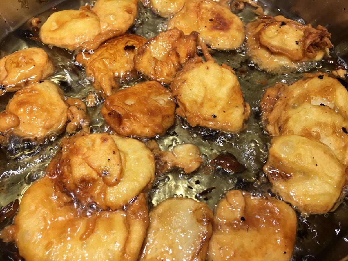 deep frying potatoes