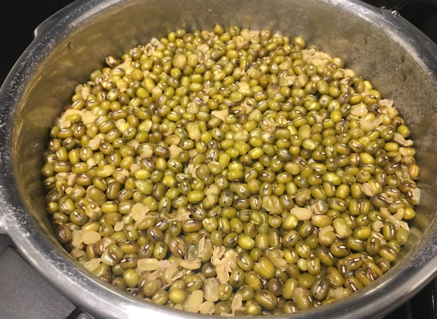 how to cook mung beans pressure cooker method