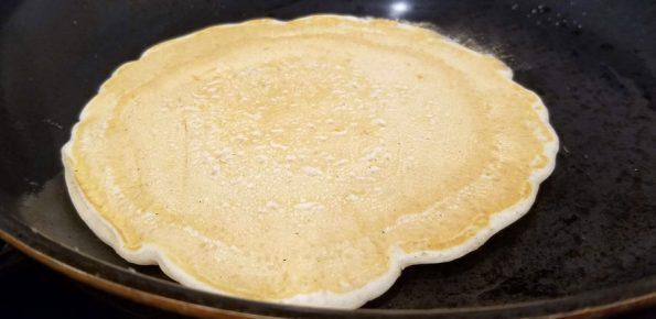 making simple pancakes