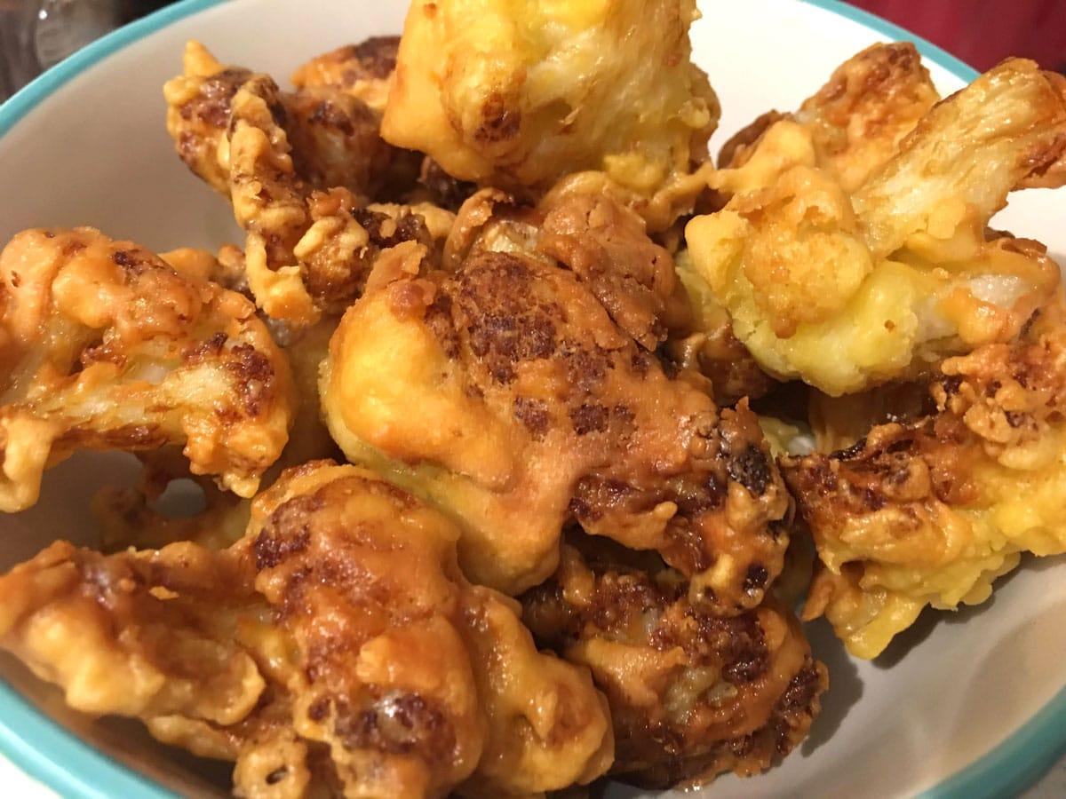 perfect deep fried cauliflower wings