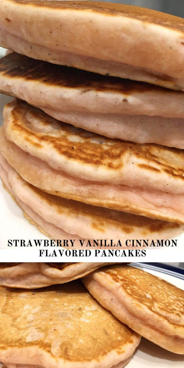 flavored pancakes strawberry vanilla cinnamon