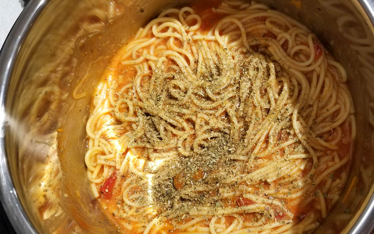 instant pot spaghetti noodles and sauce vegetarian