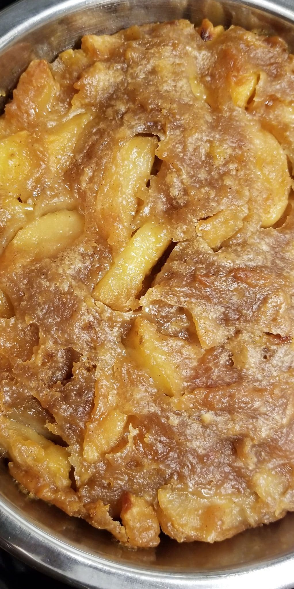 apple cobbler with gala apples