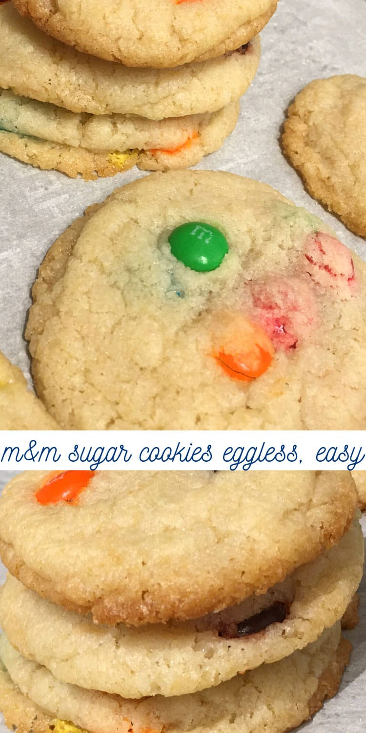 perfect m&m cookies eggless