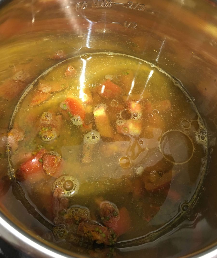 add water to mung beans instant pot