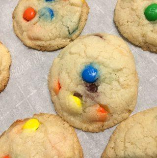 m&m sugar cookies eggless moist