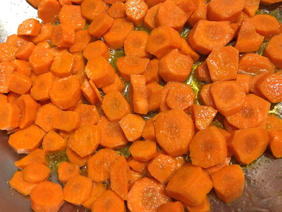 sauteed carrot round slices