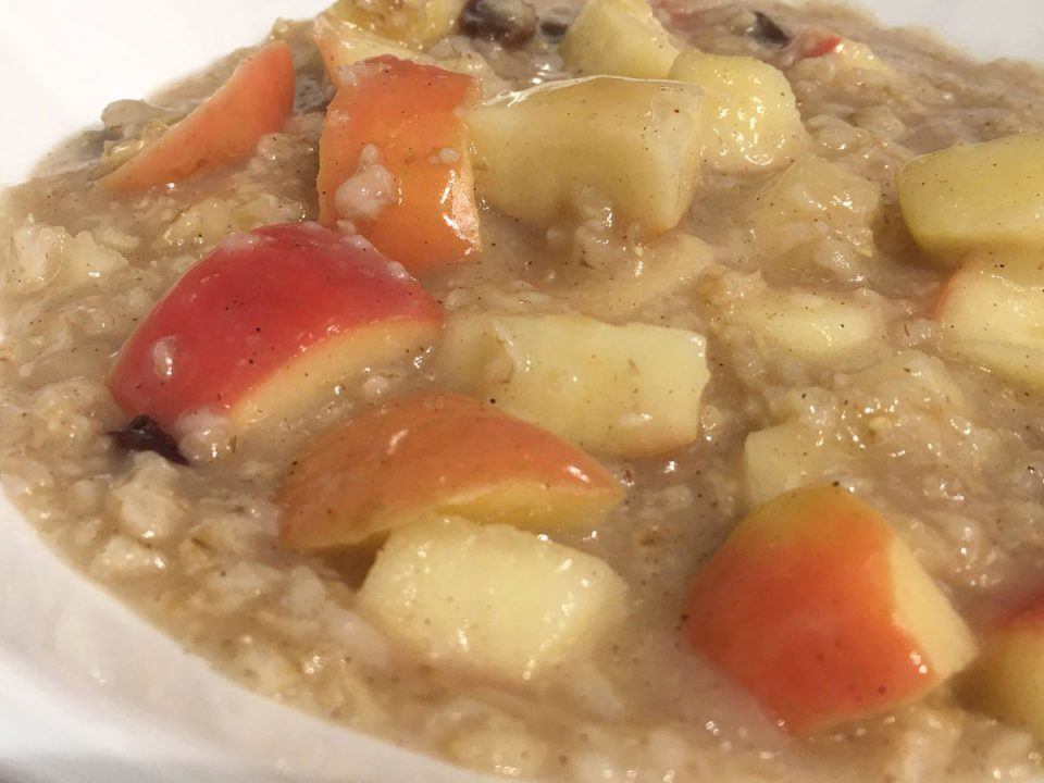 vegan oatmeal without milk and sugar