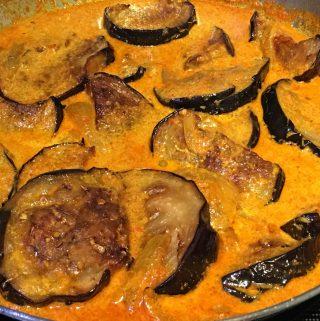 creamy eggplant curry