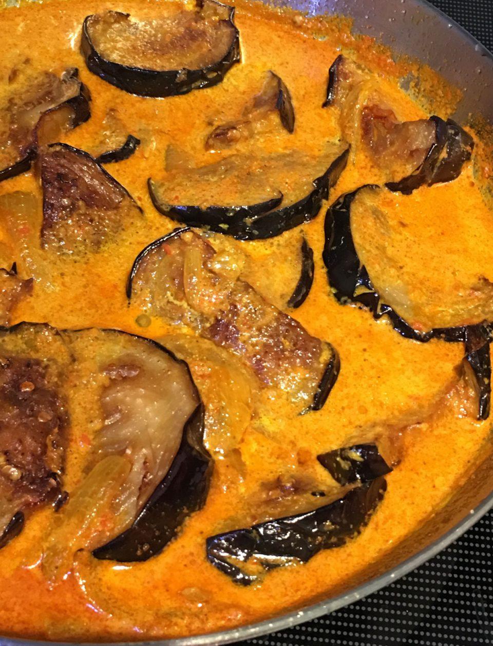 eggplant curry in creamy tomato gravy