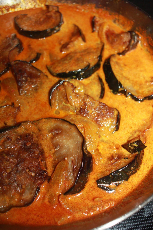 eggplant curry in tomato onion masala