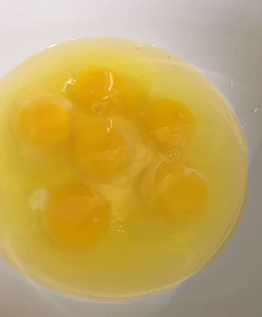 crack the eggs into bowl