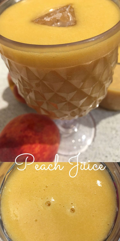 fresh peach juice