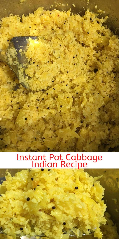 instant pot cabbage thoran indian recipe