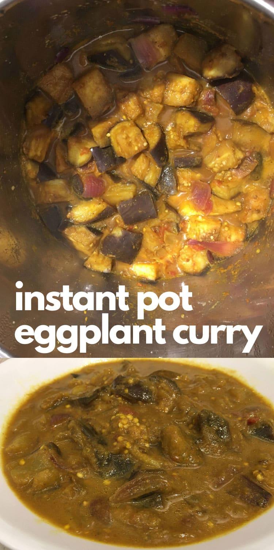 instant pot eggplant masala curry