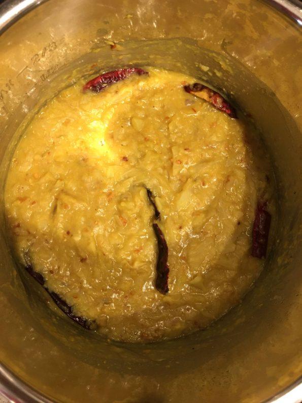 seasoning added to masoor dal