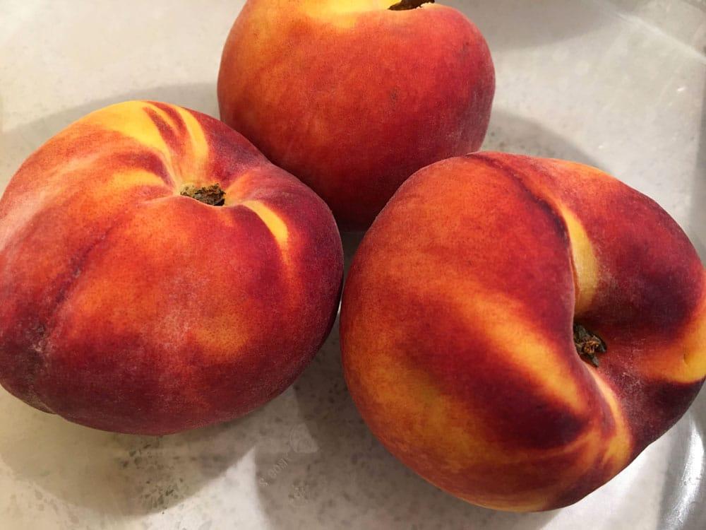 wash the peaches