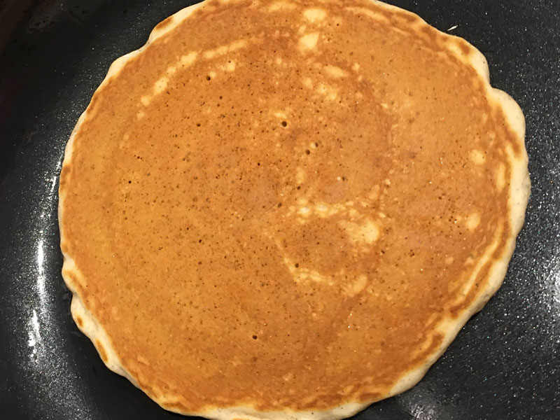 perfect cooked pancake