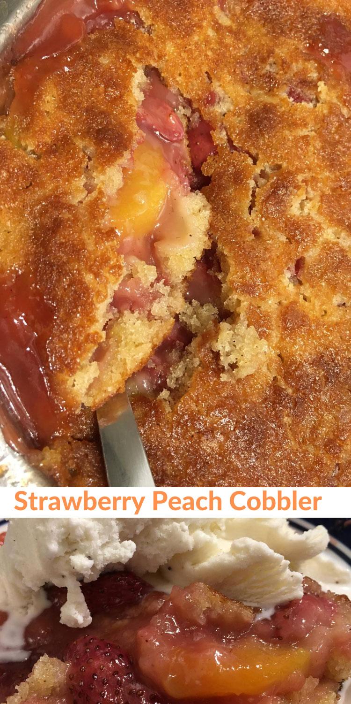 strawberry peach cobbler with self rising flour