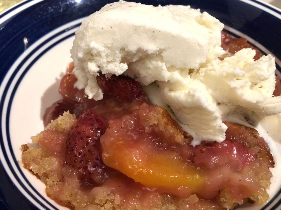 strawberry peach cobbler from scratch