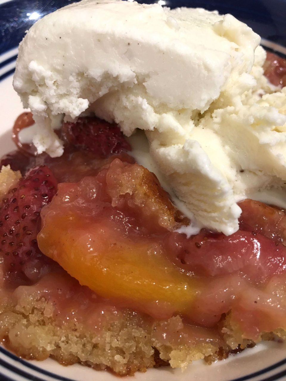strawberry peach cobbler recipe