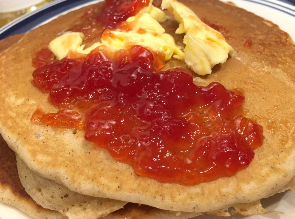 watermelon jam with pancakes