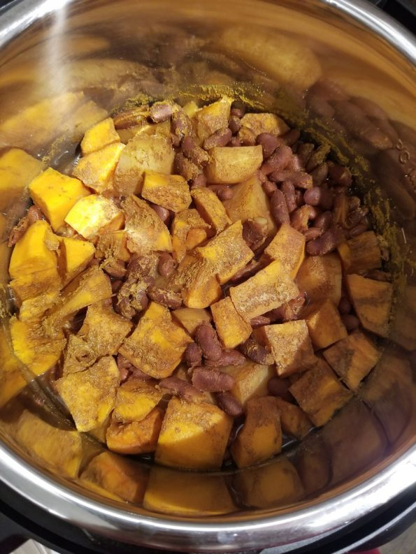cooked rajma with sweet potatoes