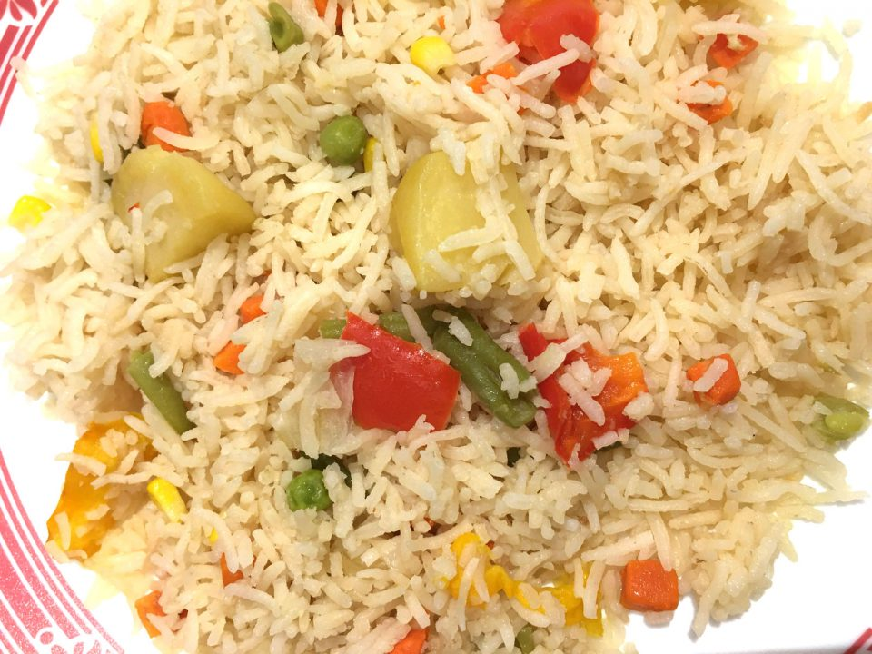 vegetable pulao rice pulao easy Indian recipe