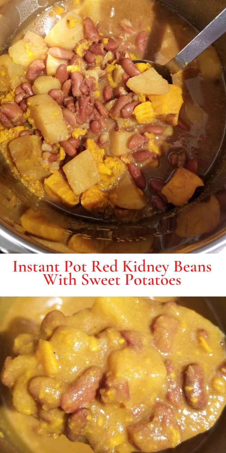instant pot red kidney beans with sweet potatoes