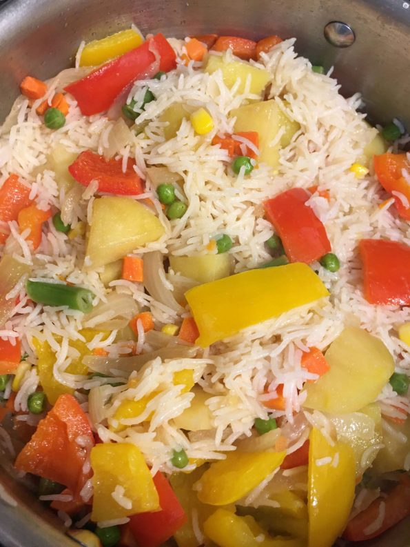 perfect vegetable pulao pilaf rice