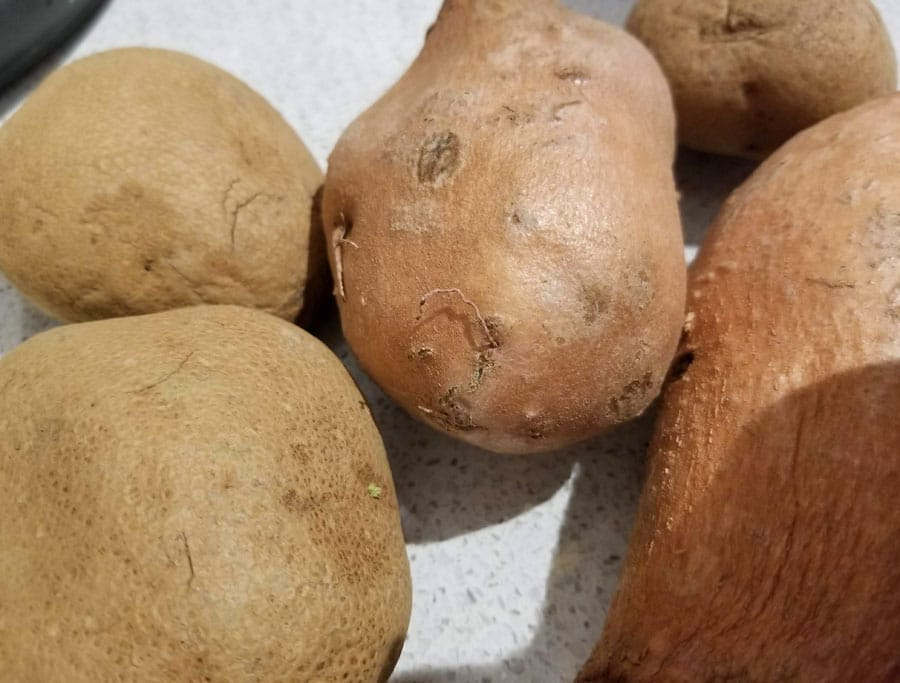 potatoes and sweet potatoes