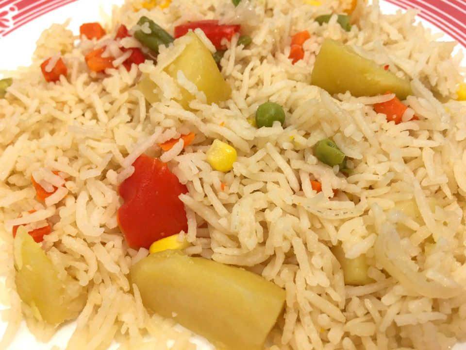 vegetable pulao with mixed vegetables