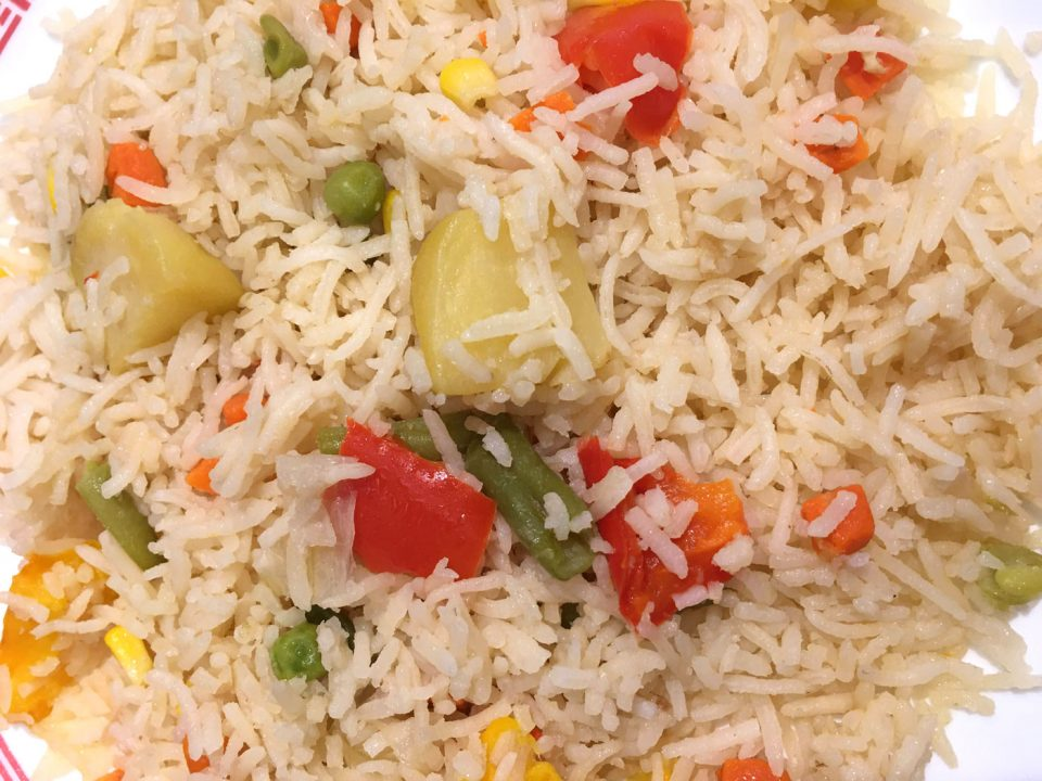 vegetable pulao rice pilaf