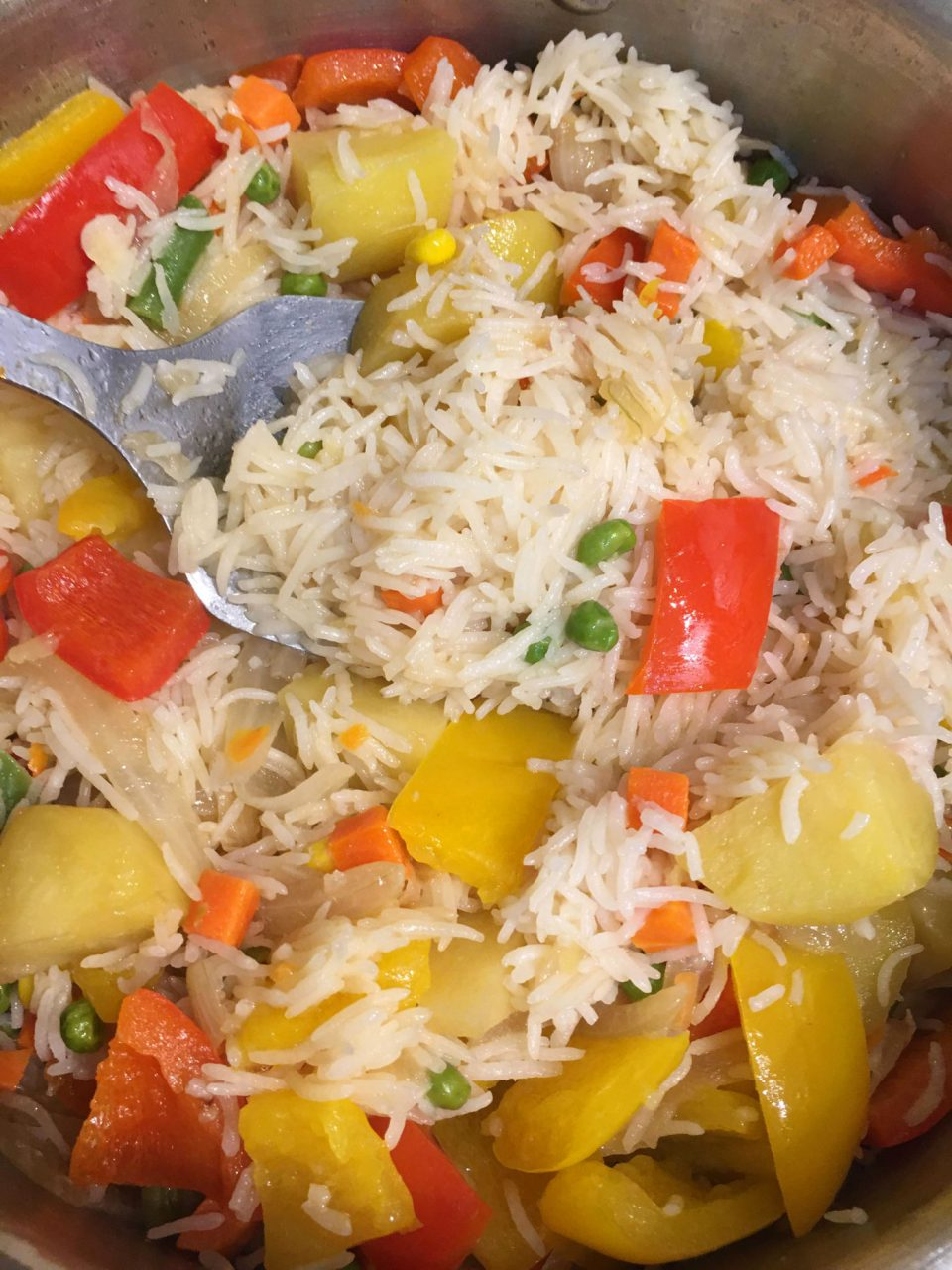vegetable rice pulao easy