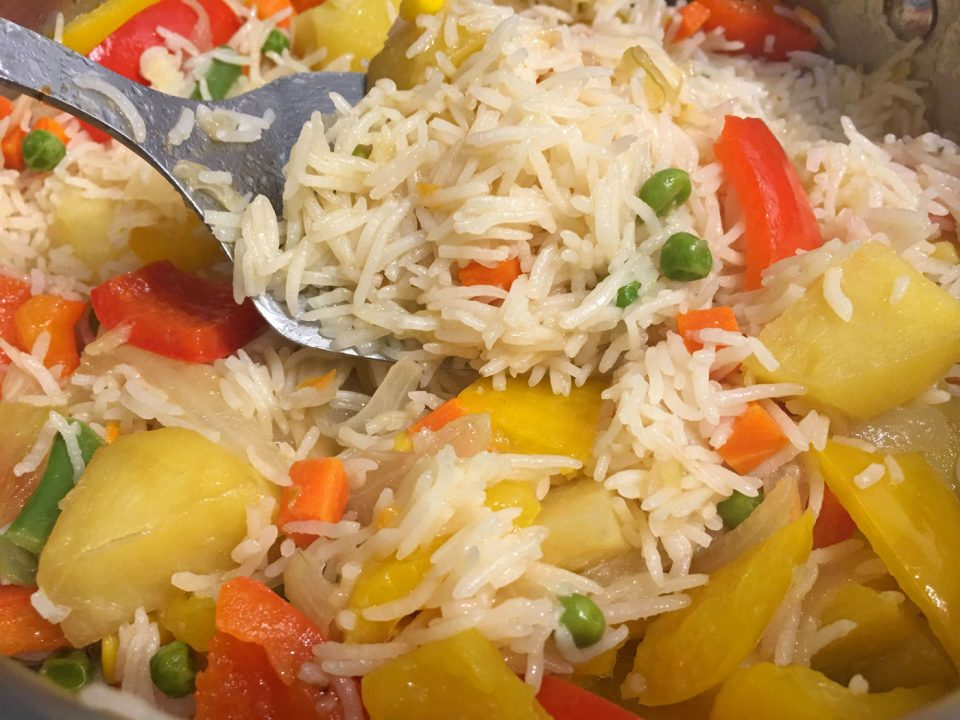 vegetable rice pulao pilaf easy