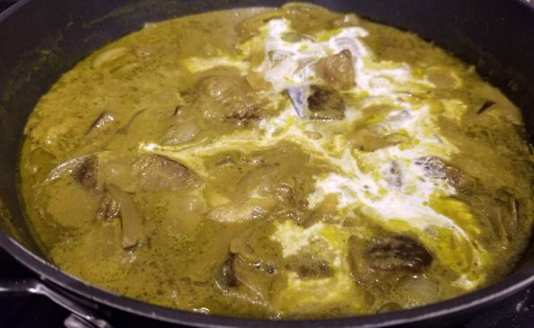 add cream to eggplant curry