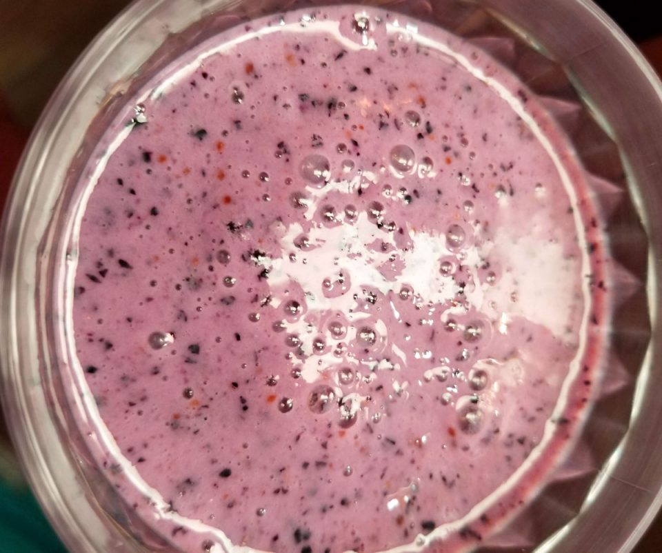perfect blueberry milkshake