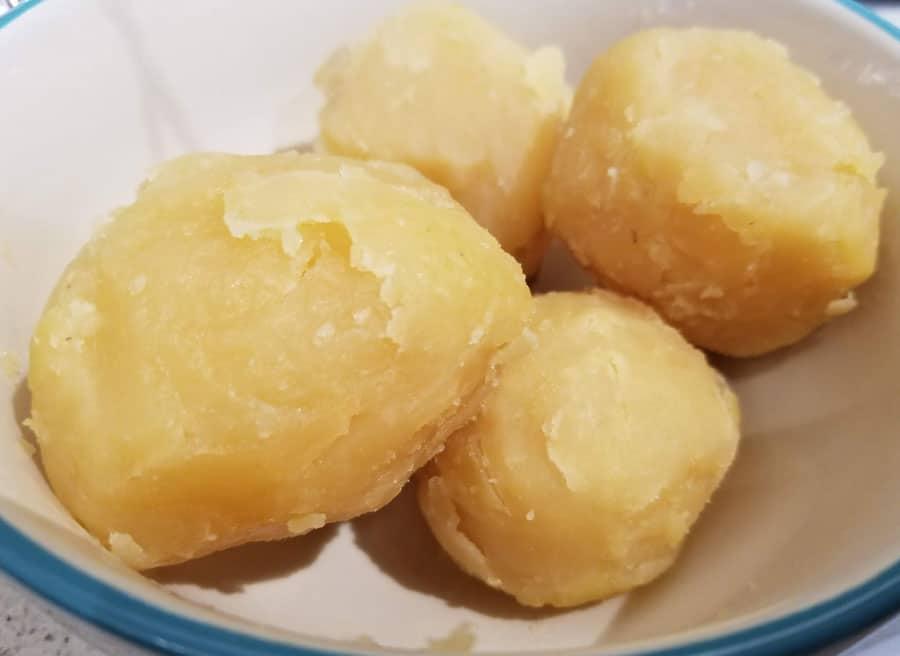 boiled potatoes for dum aloo