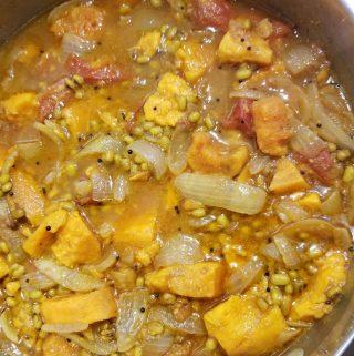 sweet potato mung bean curry