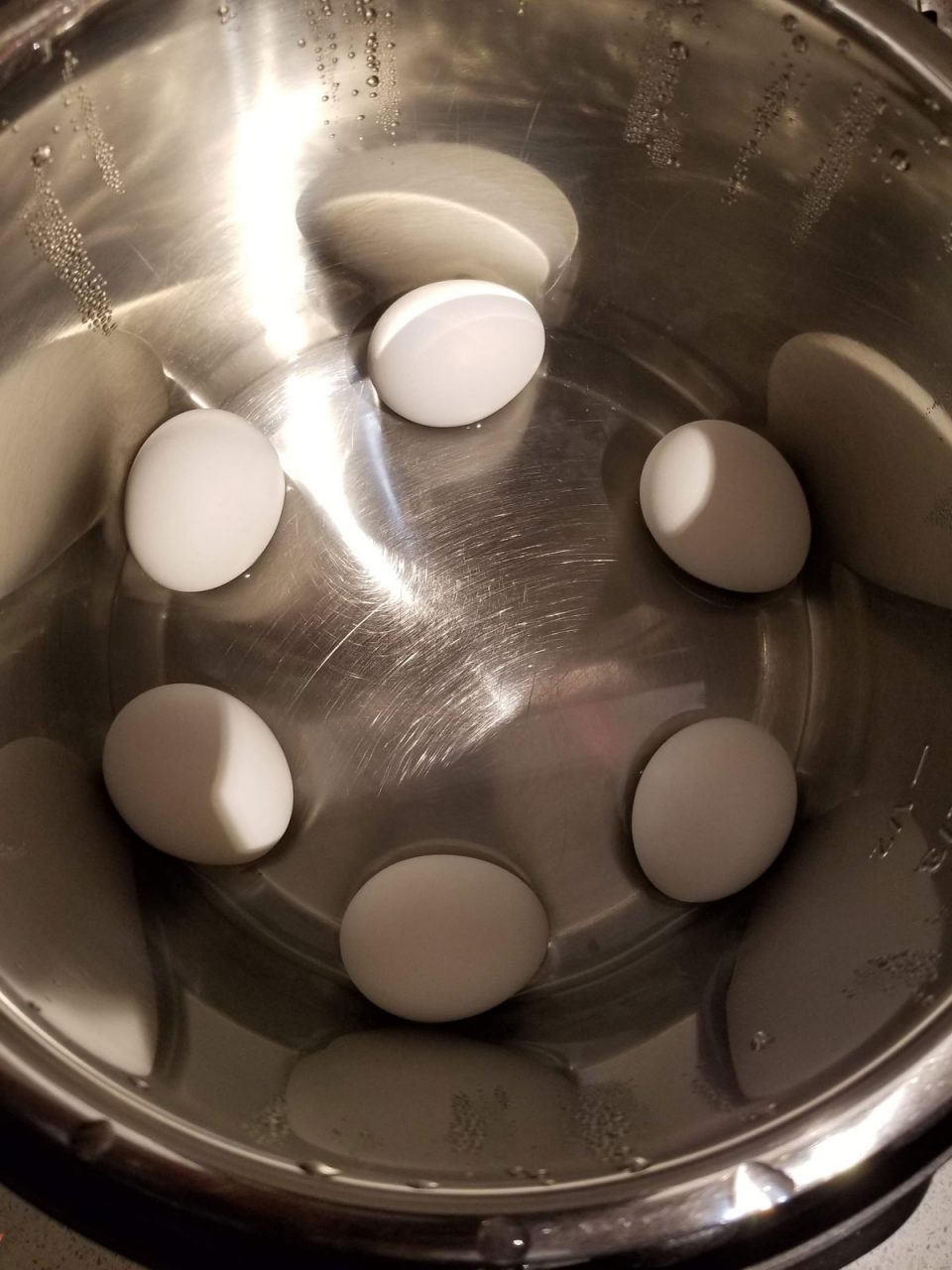 instant pot boiled eggs without rack