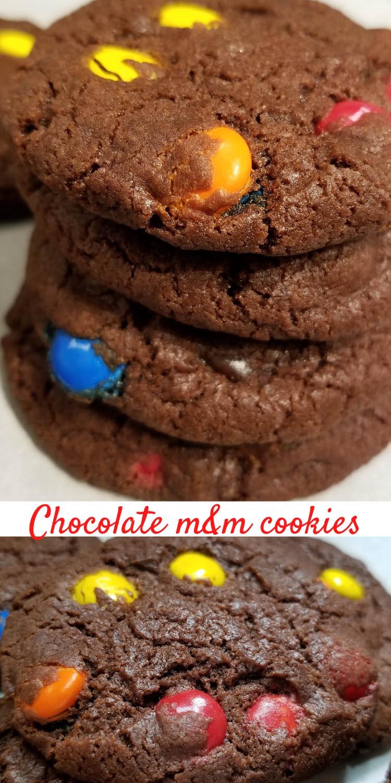 chocolate m&m cookies no eggs recipe