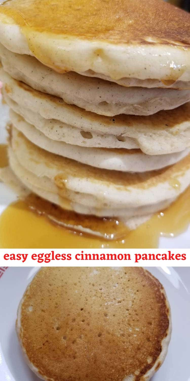 cinnamon pancakes eggless easy