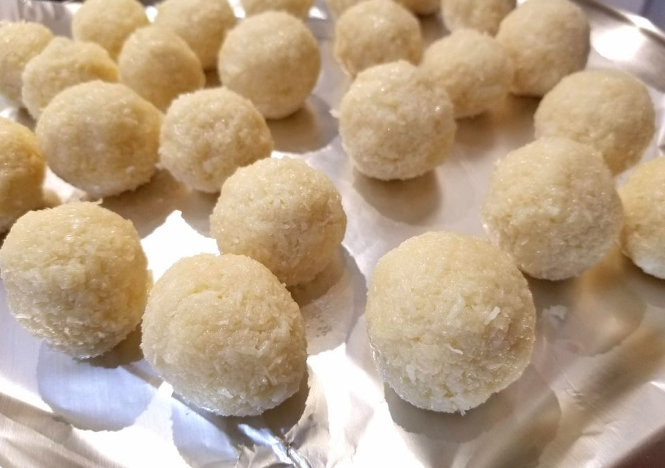 coconut ladoo with condensed milk