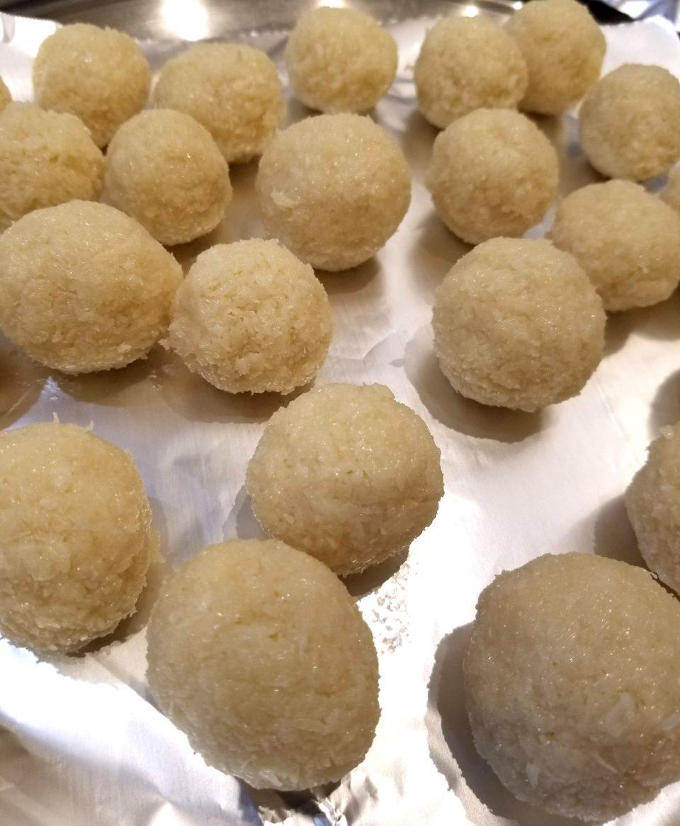 coconut ladoo indian sweet dessert