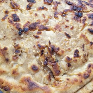 onion paratha indian bread