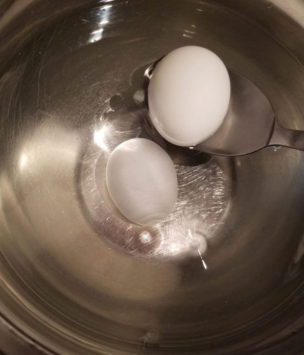 place eggs in water