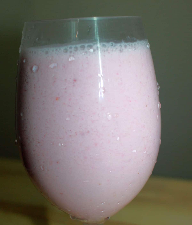 strawberry milkshake without ice cream