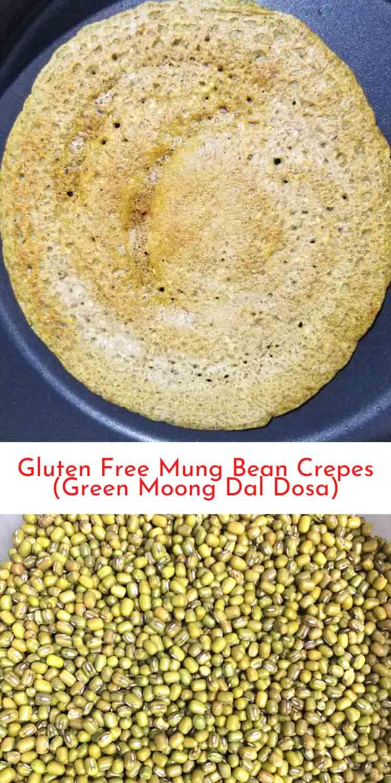 mung bean crepes gluten free dosa