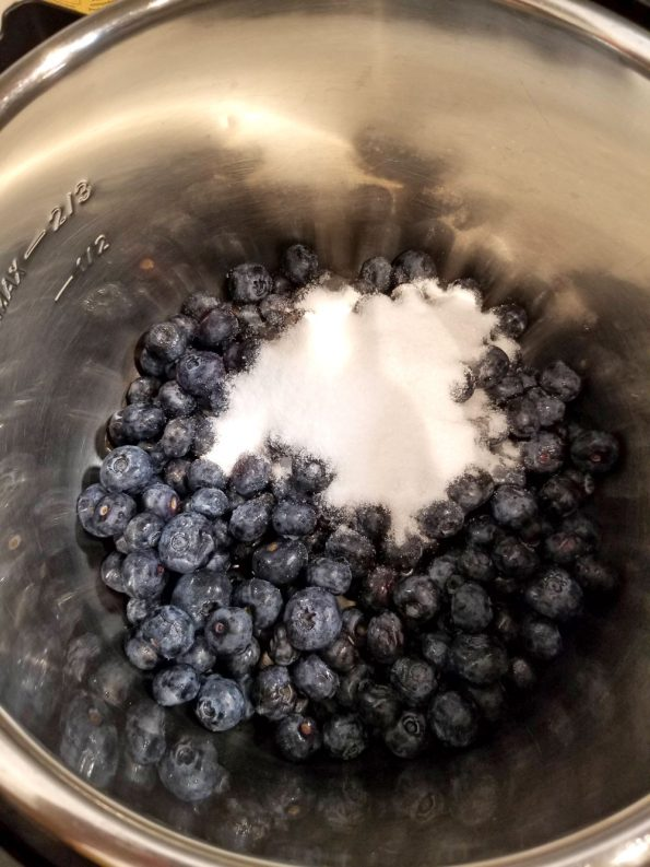 blueberries sugar