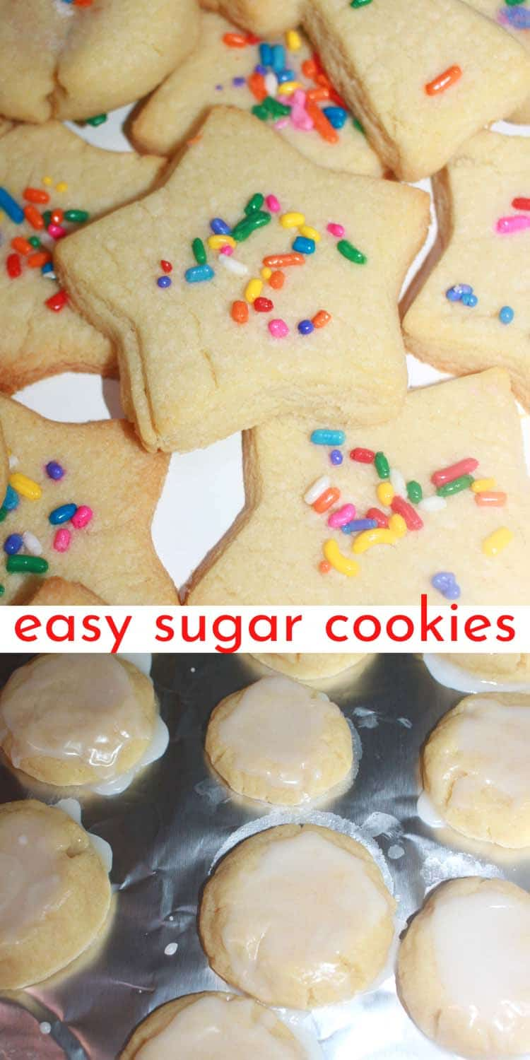 easy cutout sugar cookies with sprinkles